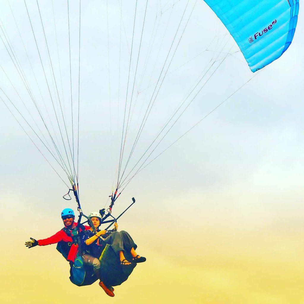 paragliding in Bali